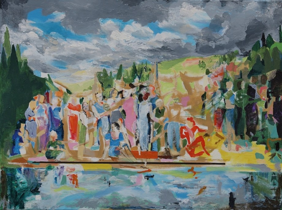 Title:On the edge II Medium: Oil Size: 60 x 80 x 2 cm