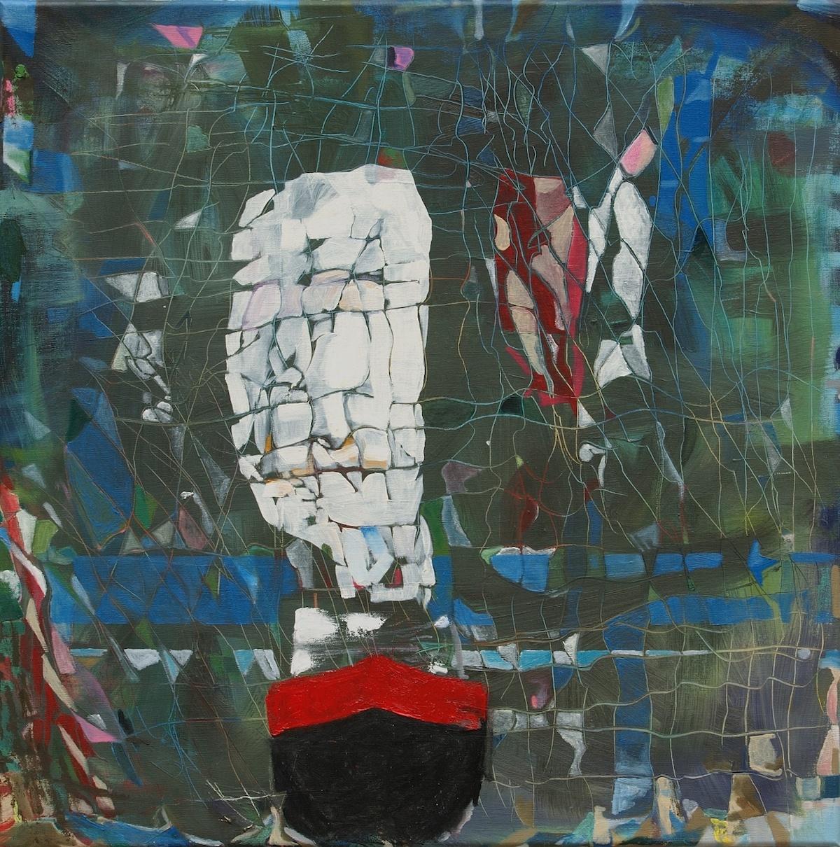 Title: The Ghetty docked Medium: Oil Size: 75 x 75 x 2 cm