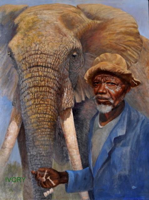 Title:Ivory Medium:oil Size:30x40