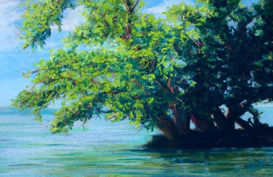 Title:Picnic Island Point Medium:Pastel Size:7 x 11