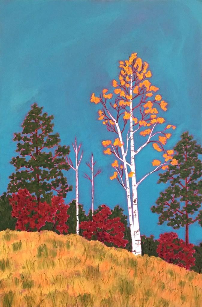 "Title:Autumn Glory Medium:acrylic on canvas Size:36"" x 24"""