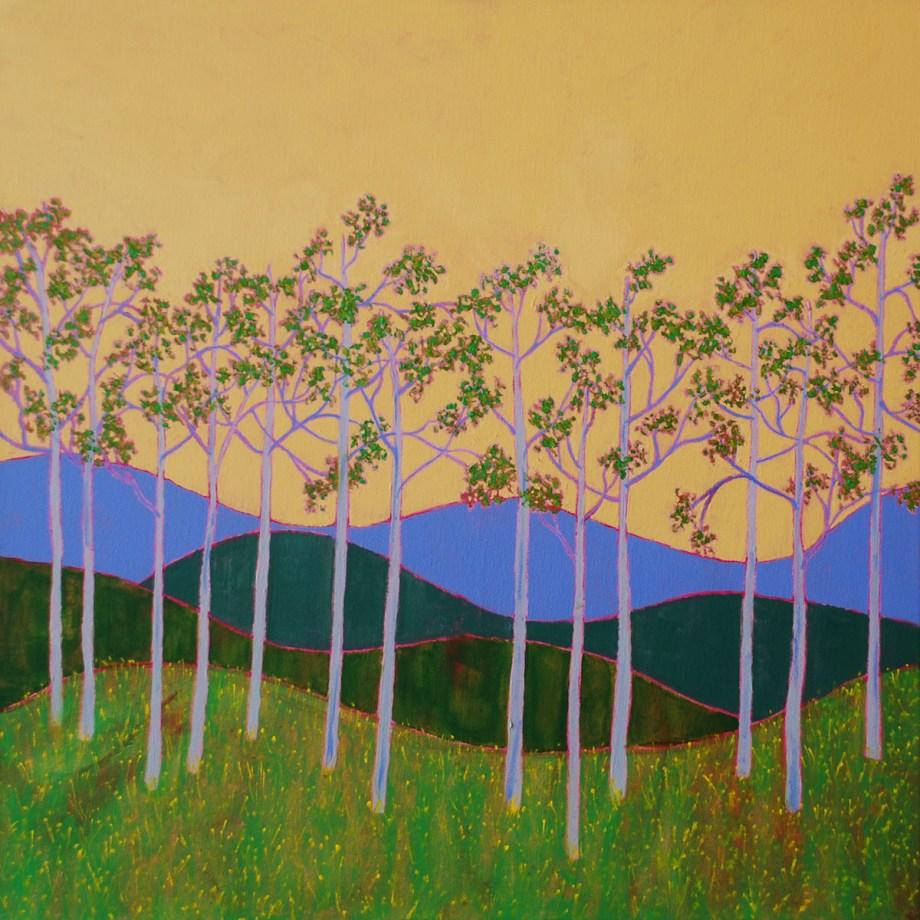 "Title:Feels Like Spring Medium:acrylic on canvas Size:24"" x 24"""