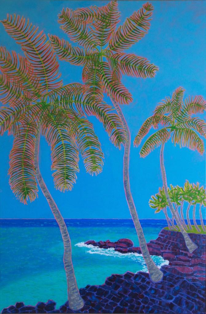 "Title:Big Island Blues Medium:acrylic on canvas Size:36"" x 24"""
