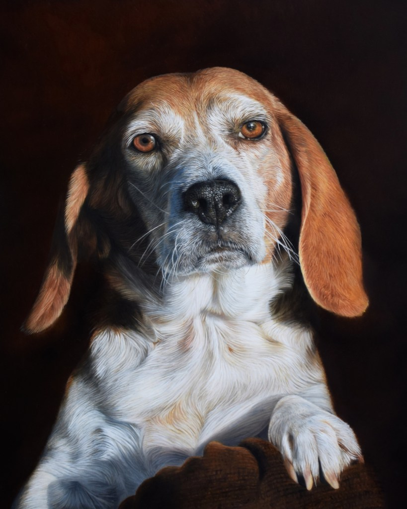 "Sam Dolman - Chesterfield, UK Maggie Oil Painting 16"" x 20"""
