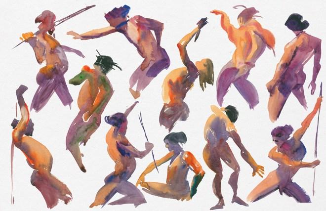 Title:Impression of Rhythm 3 Medium:Watercolor Size:11X17
