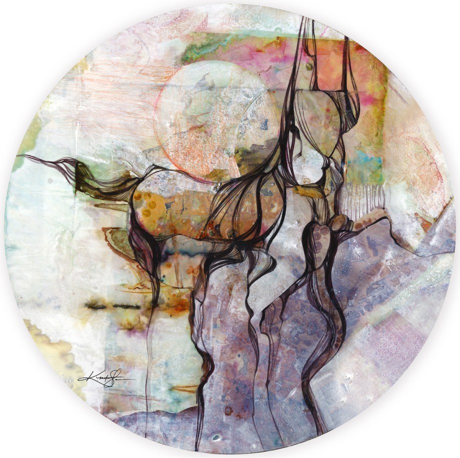 "Title:Horse Spirit Medium: Mixed Media on Sintra Size:20 1/2"" x 20 1/2"" (in Diameter)"