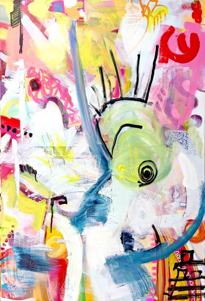 Title:Sans titre 2 Medium:Acrylic and marker Size:100x65cm