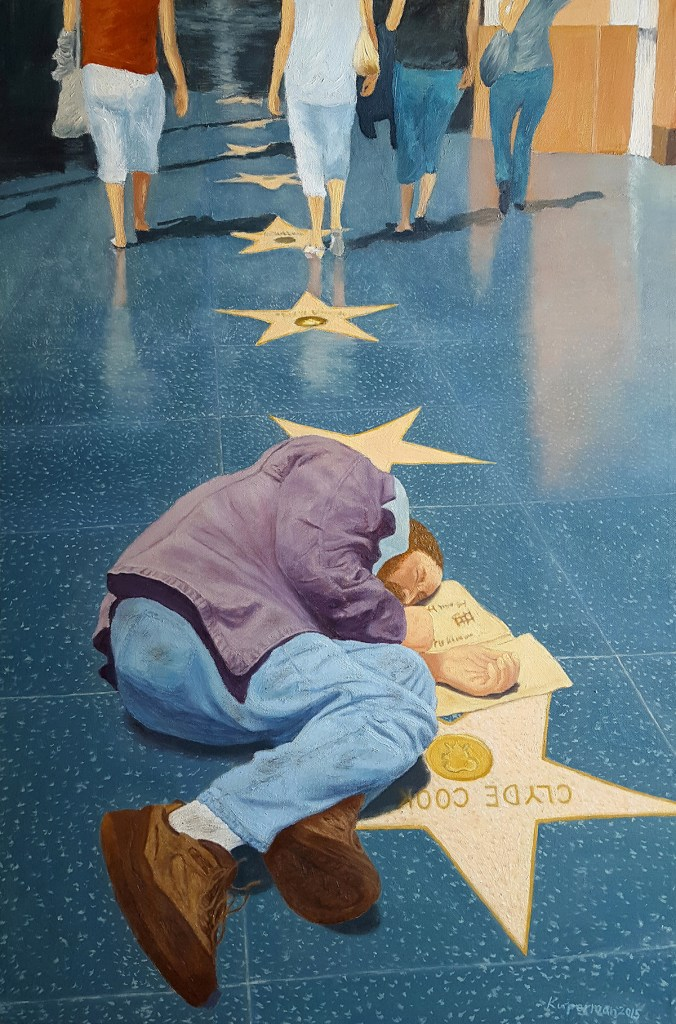 Title:Hollywood Walk of Fame Medium:	Oil Size:	36 x 24