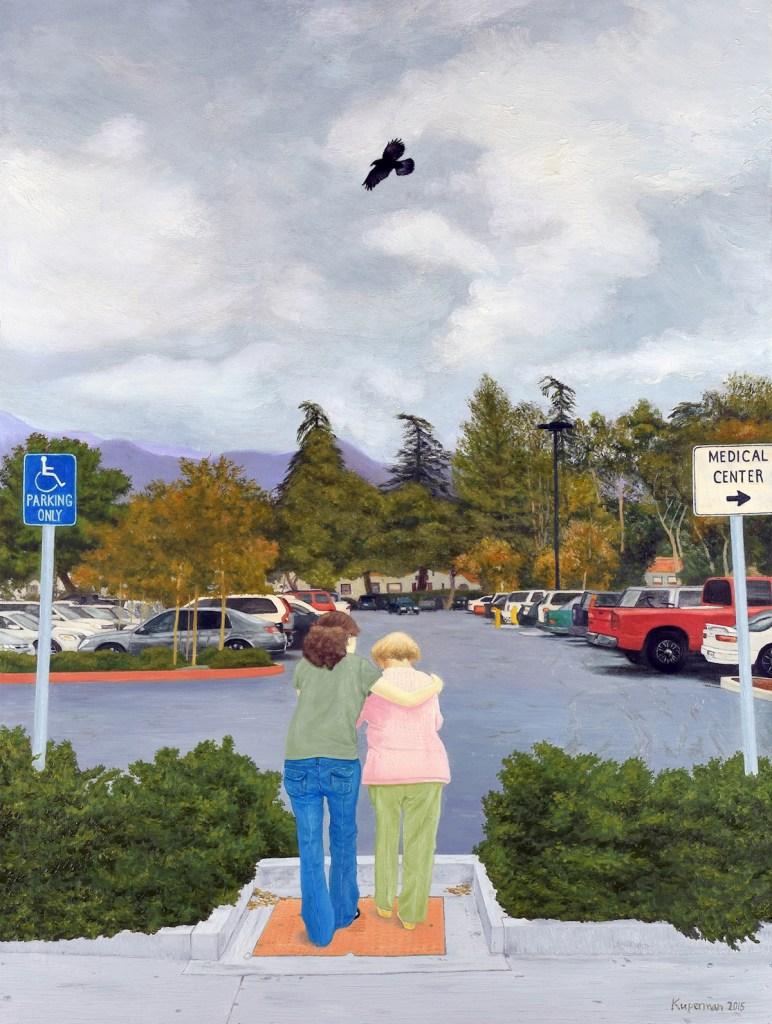 Title:Hospital Parking Lot Medium:Oil Size:40 x 30