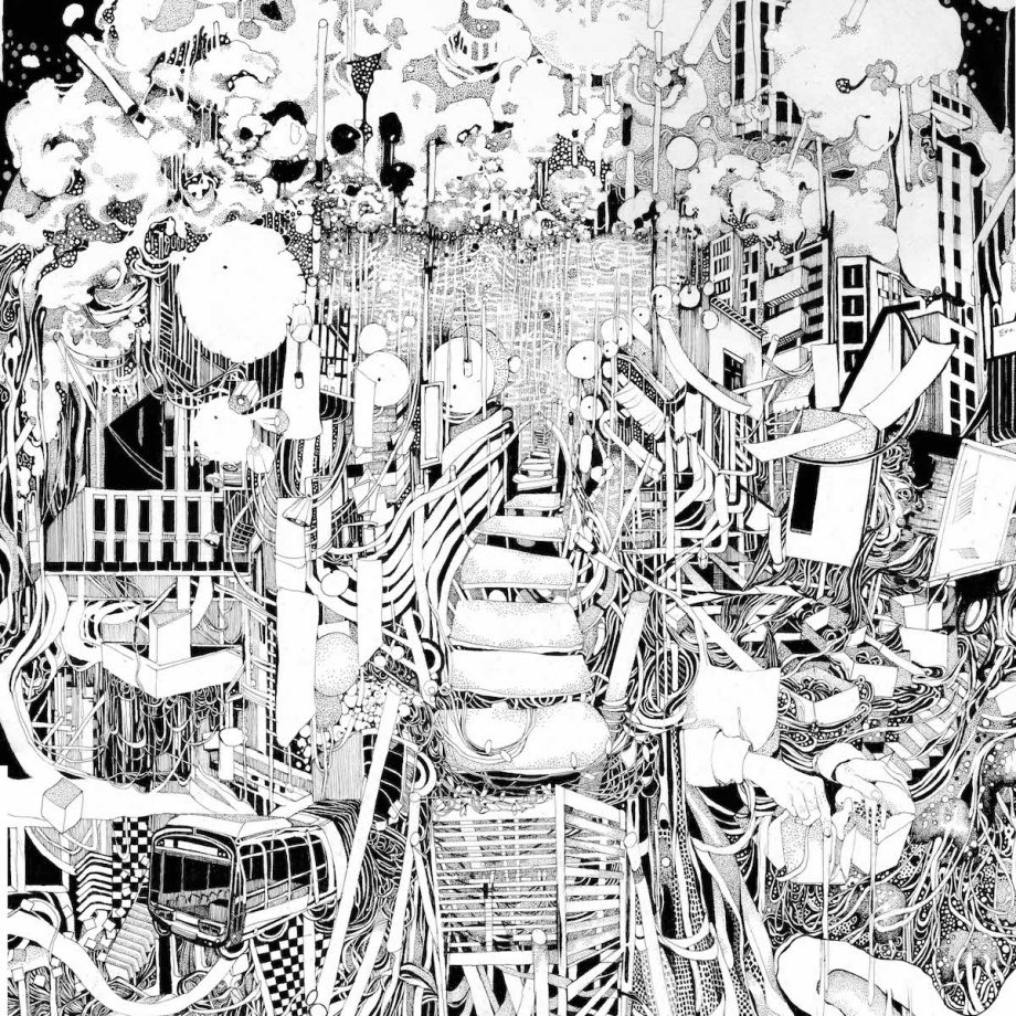 "Title: ""Chinatown"" Medium: Pen and Ink Size: 14 x 17 inches"