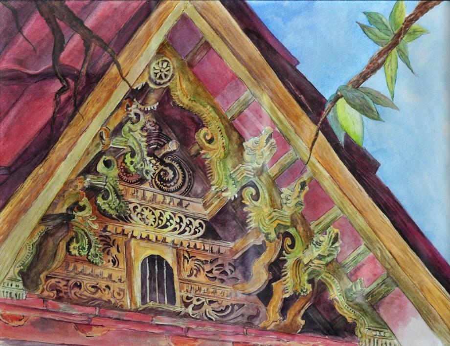 "Title:Green Gables Medium:Watercolors Size:23"" x 17"""