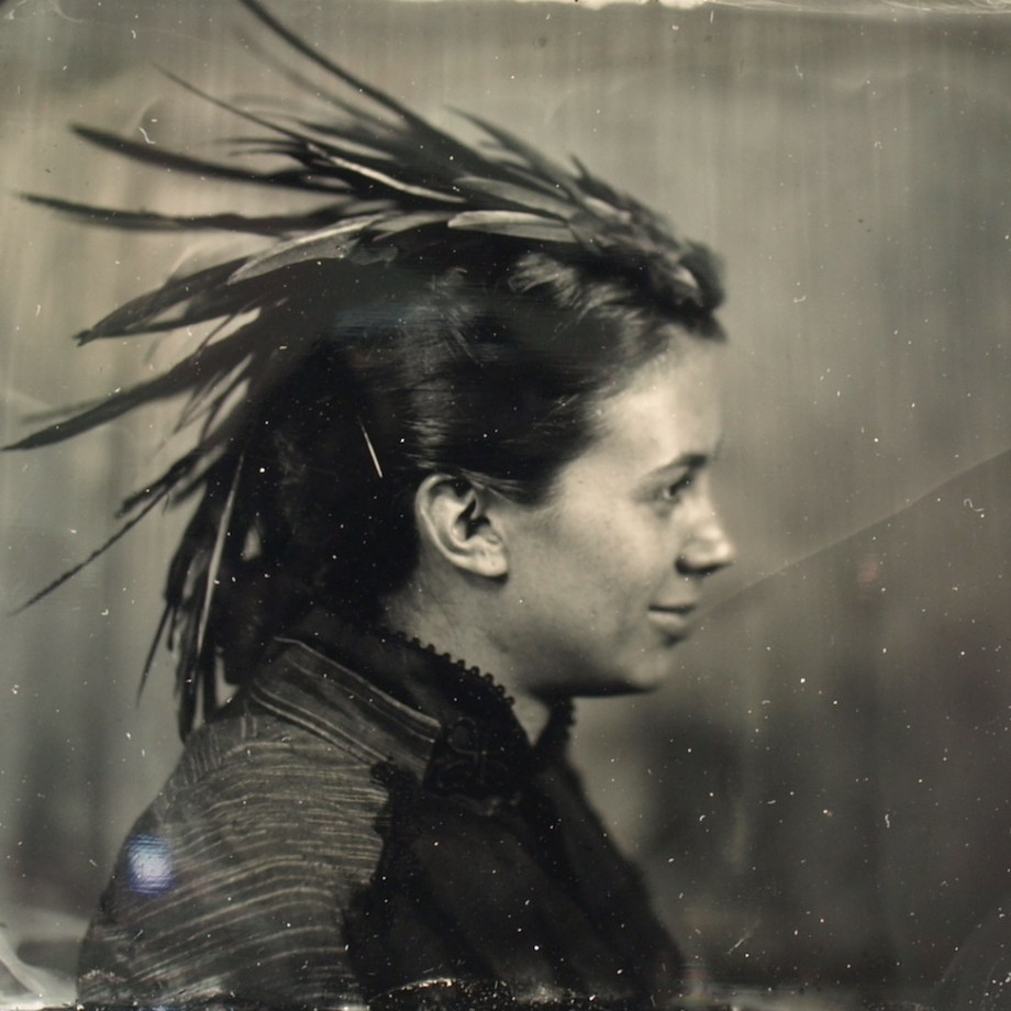 Title: Woman Looking Left Medium: Wet Plate Photography Size: 3x4