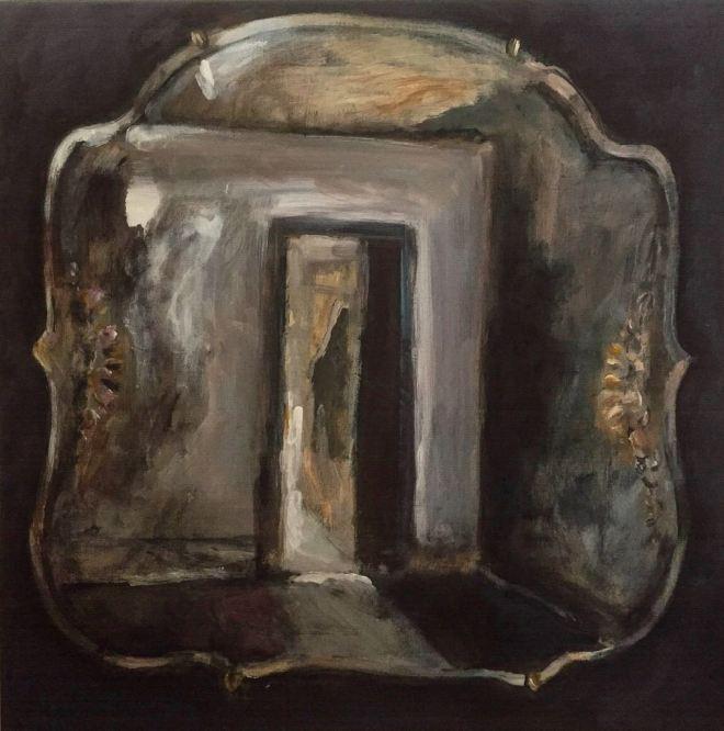 Title:Dark Mirror Medium:Acrylic on Canvas Size:55x55 cm