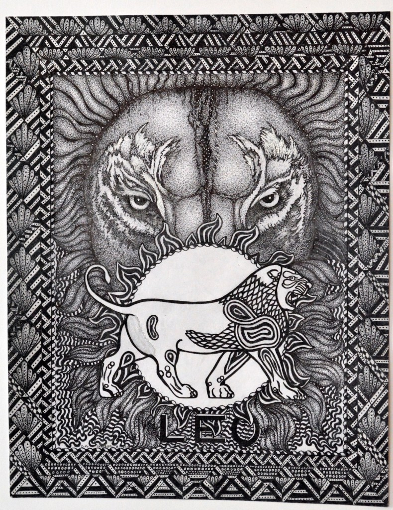 """Title:Leo Medium:Pen and Ink Size:11""""x14"""""""