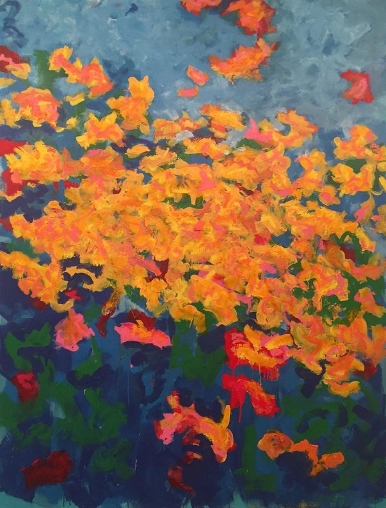 "Title:The Garden Medium:oil on canvas Size:48"" X 36"""
