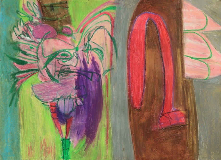"""Title:In the Next Room Medium:oil on paper Size:22""""x30"""""""