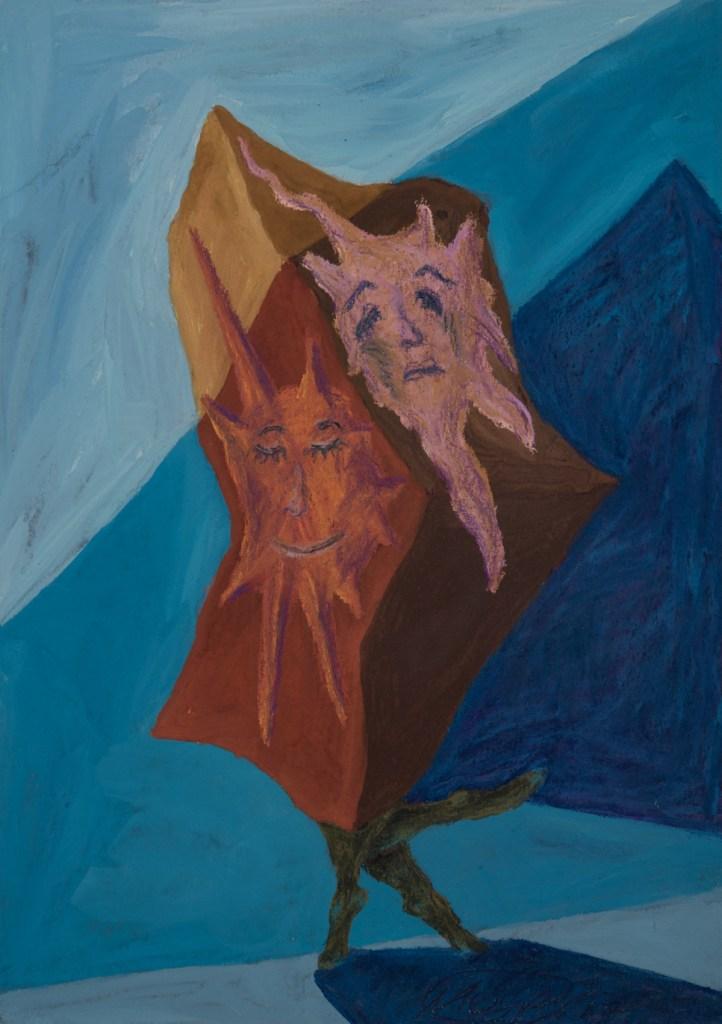 Title:Dance Medium:pastel on paper Size:20x30 cm