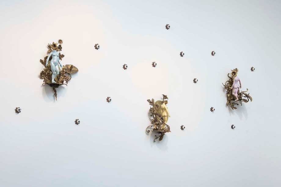 """Title LANDSCAPES Medium SCULPTURE WALL INSTALLATION Size 67"""" BY 38"""" BY 7"""""""