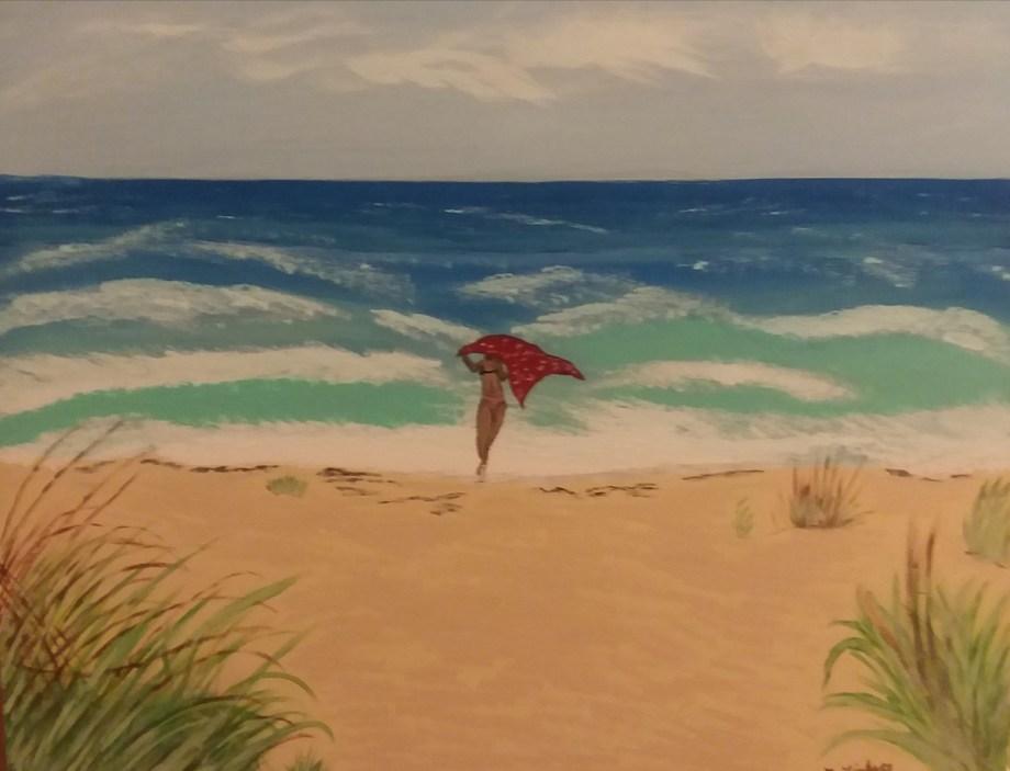 Title Stuart Beach Florida Medium Acyrlic Size 16×20