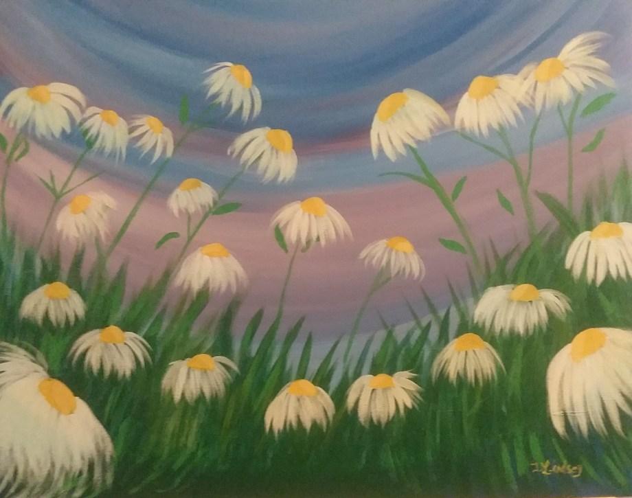 Title Simply Daisy Medium Acrylic Size 20×24