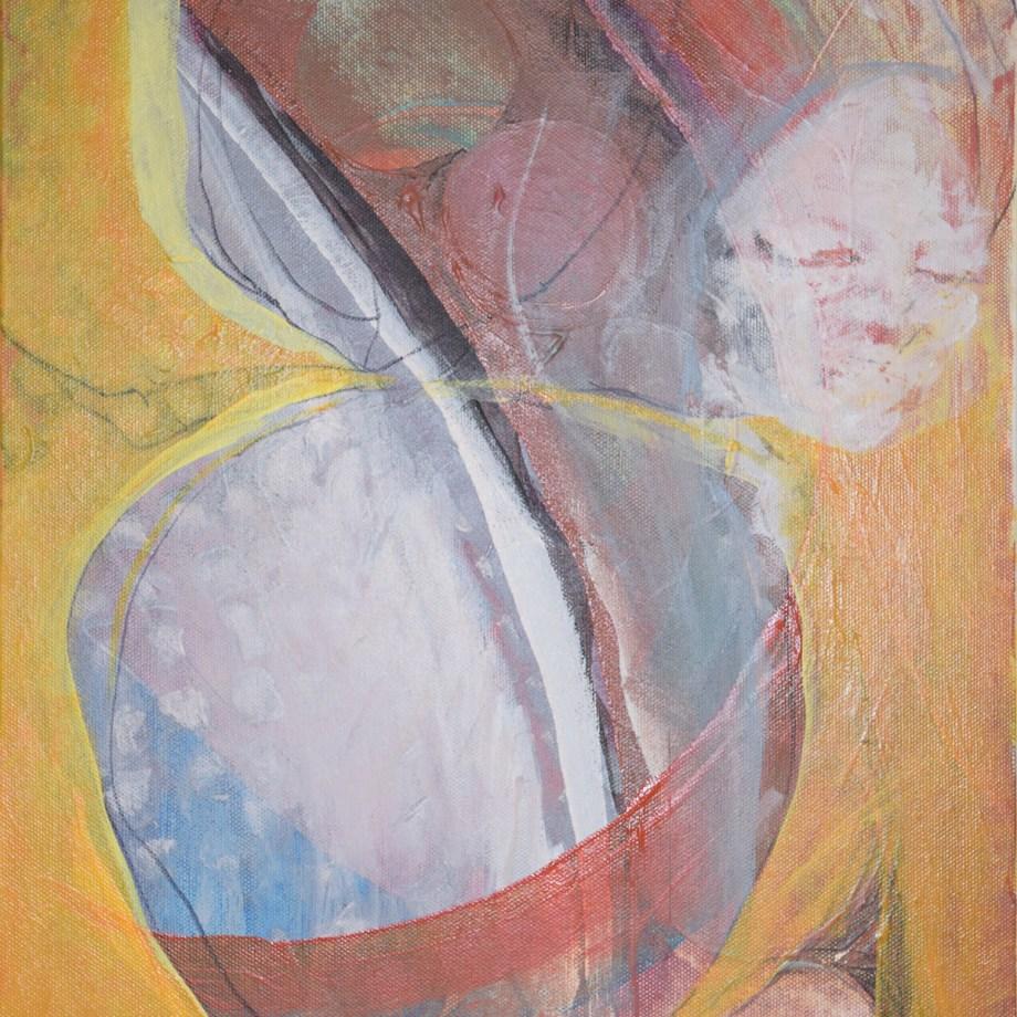 Title Woman waiting Medium acrylic Size 12x16