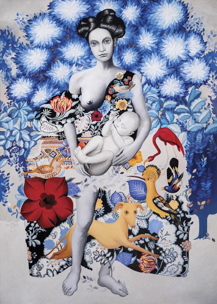 Title Auguries Of Innocence Medium Oil on Canvas Size 140 x 110 x 2.5 cm