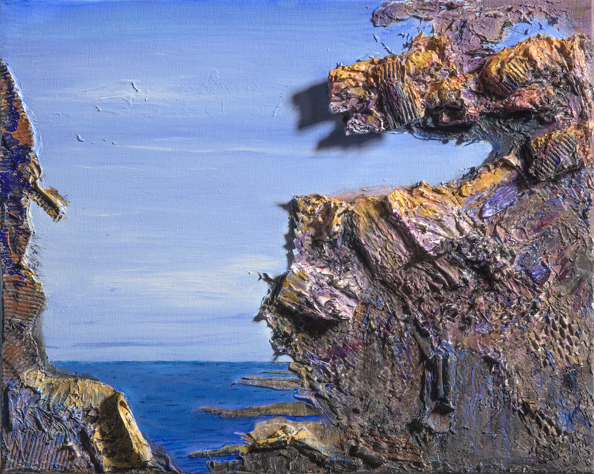 Title Quiet Resolution in Maine .jpg Medium acrylics and collage Size 16'' x 20 ''
