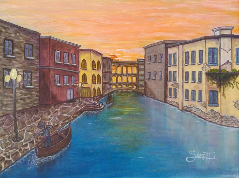 Title Long Days in Venice Medium Oil Size 22x28