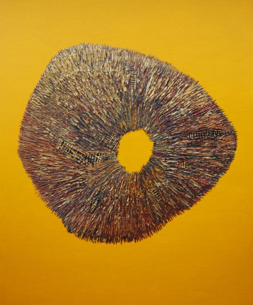 "Title Tree Stump 2 Medium Acrylic Size 30"" X 24"""