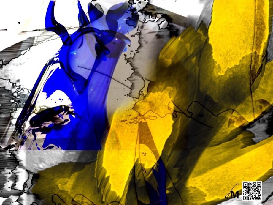 "Title ""Mediterranean in Cobalt"" Medium Multimedia Size 1024x768"
