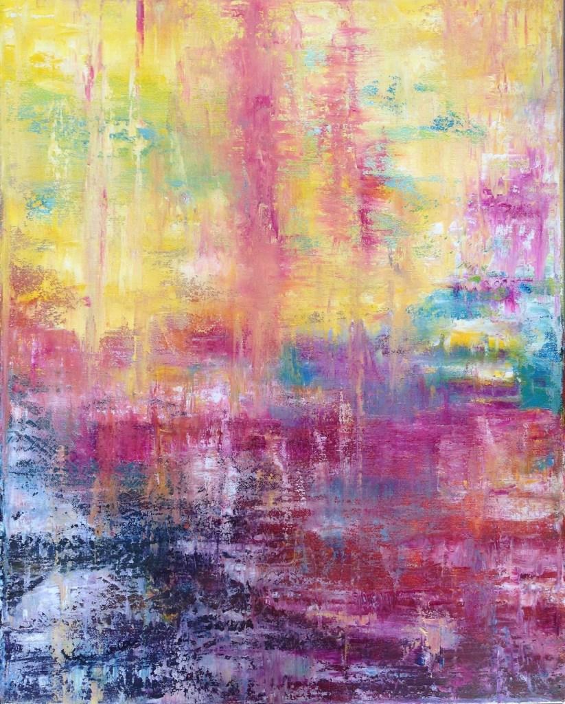 "Title ""Spirit Journey"" Medium Oil on Canvas Size 16 X 20 Inches"