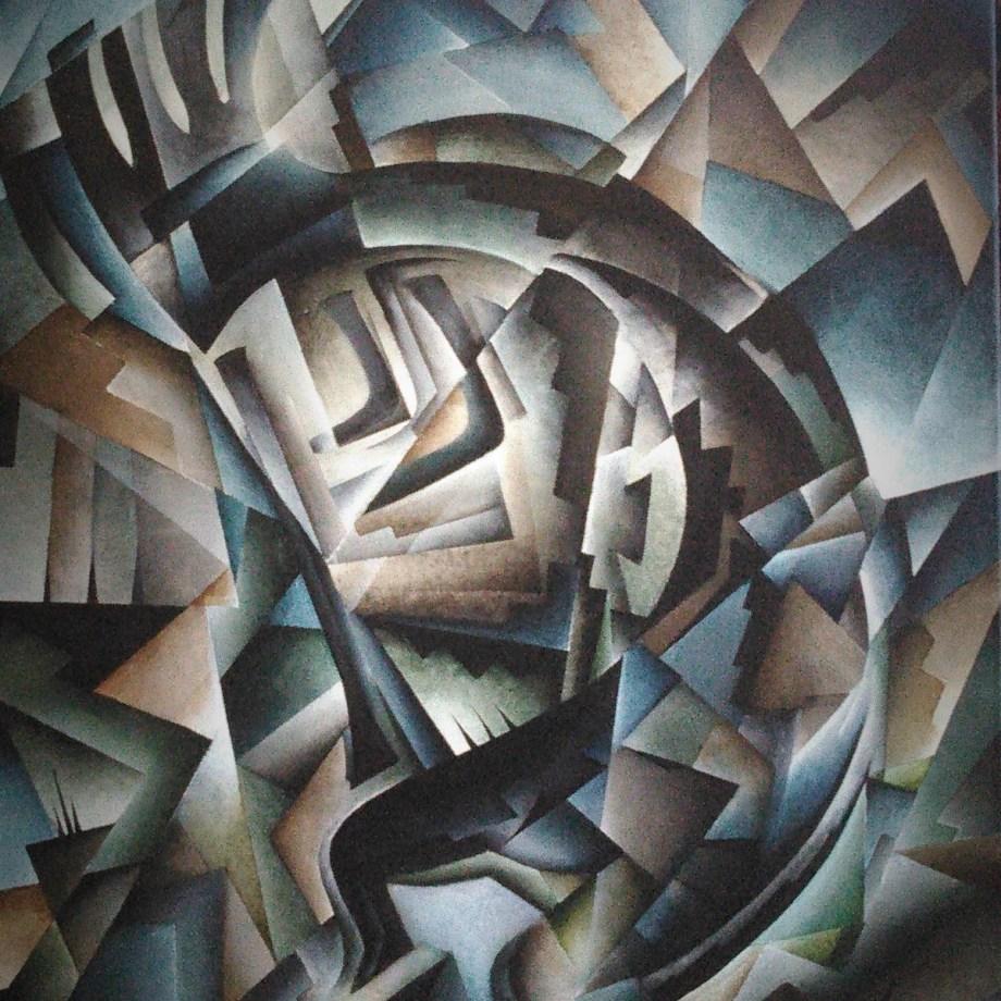 Title Cubist Kokopelli Medium Acrylic Size 24''x36''