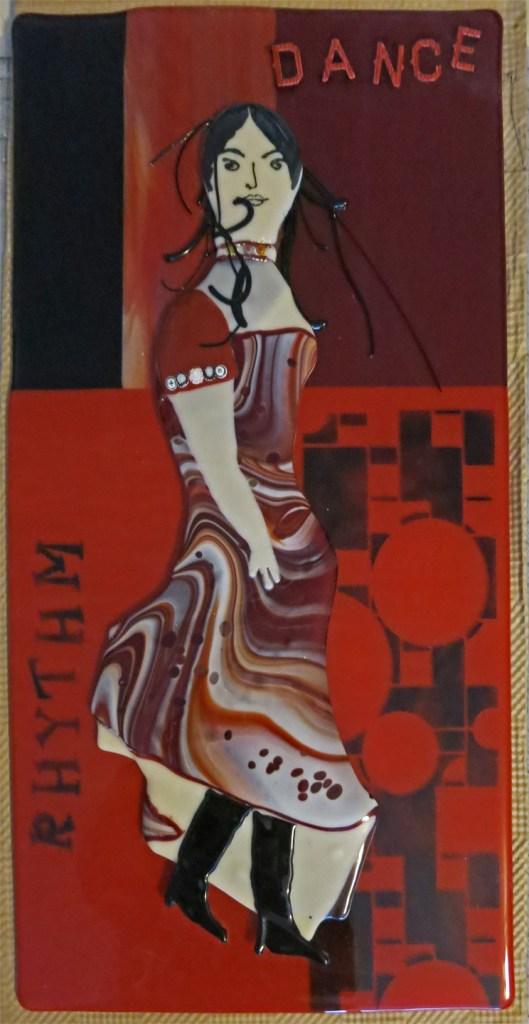 Title DANCE Medium fused glass Size 20 x 28