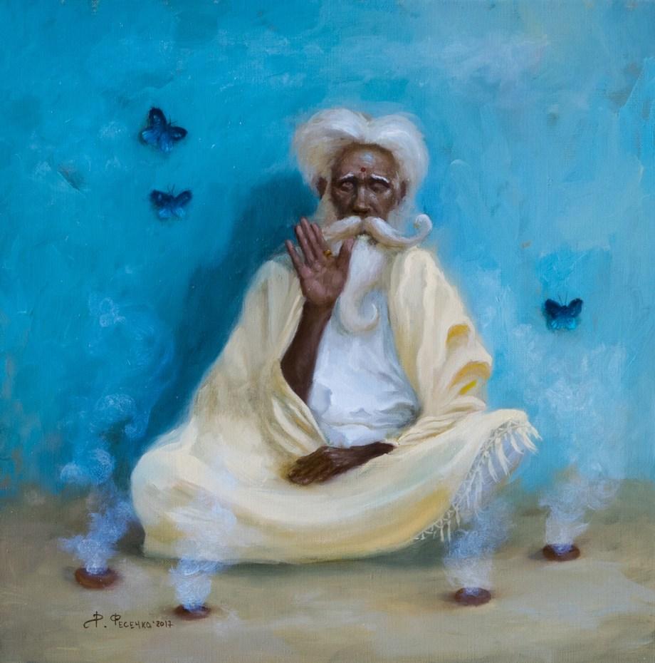 Title Blind forgiveness Medium oil on canvas Size 30x30cm
