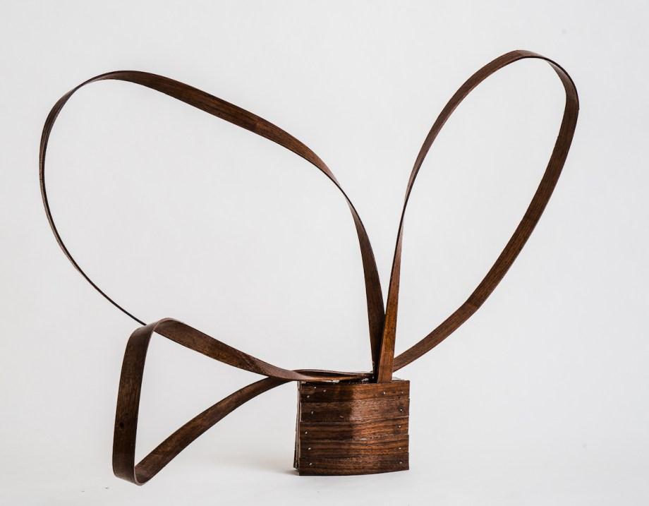 """Title Three Medium Walnut wood Size 39' X 25"""" X 23"""""""