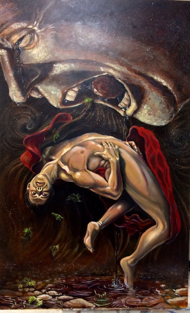 Title The hunger of Cronos Medium Oil on Canvas Size 36x48