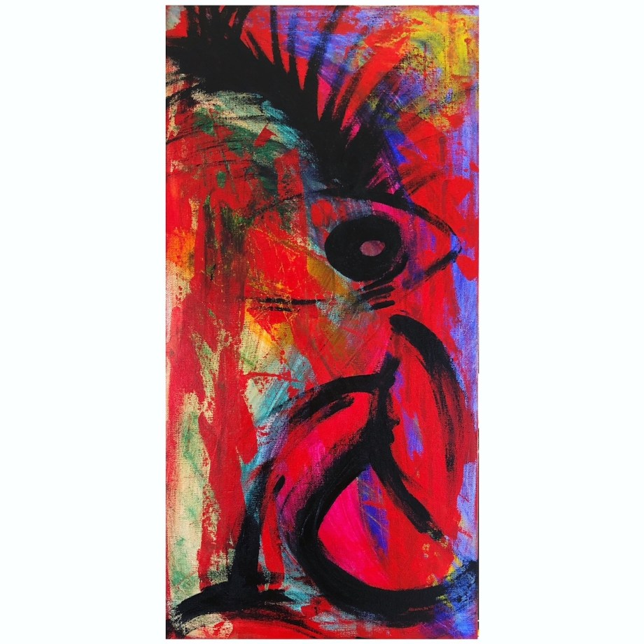 Title You are the pineapple of my eye Medium Acrylic Size 12x24in