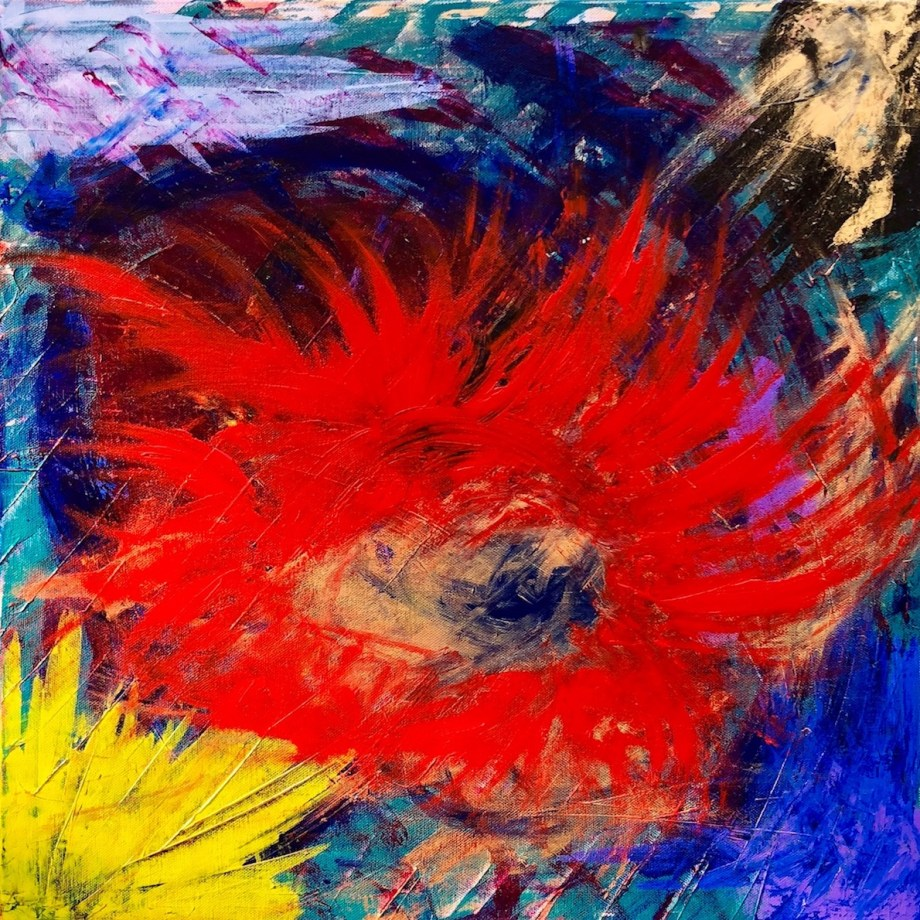 Title There's more than meets the eye Medium Acrylic Size 20x20in