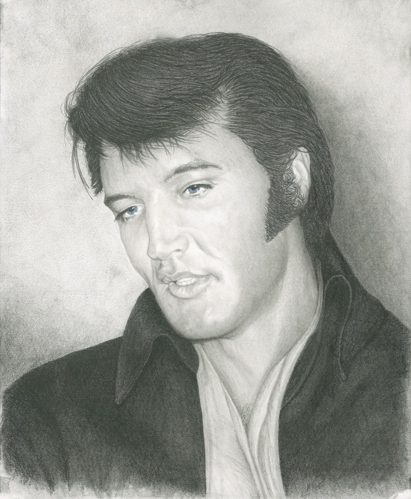 Title Elvis Medium Pencil Size 14 x 17