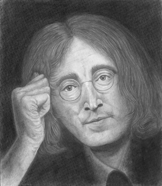 Title Lennon Medium Pencil Size 14 x 17