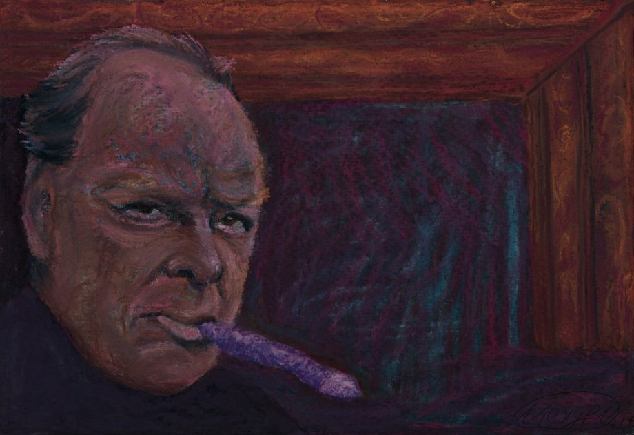 Title FREEDOM (Churchill) Medium Pastel on paper Size 20x30 cm