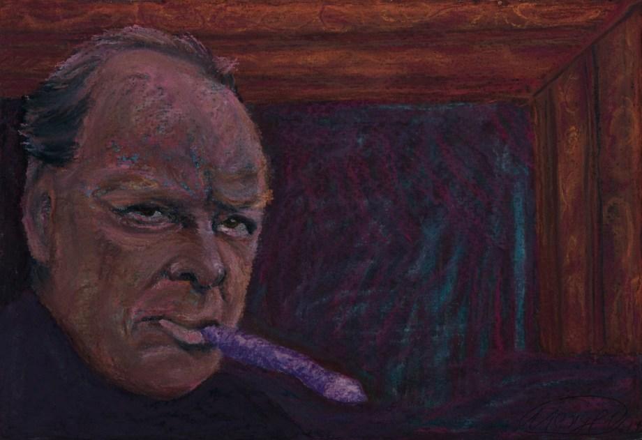 Title FREEDOM (Churchill) Medium Pastel on paper Size 20x30 cm