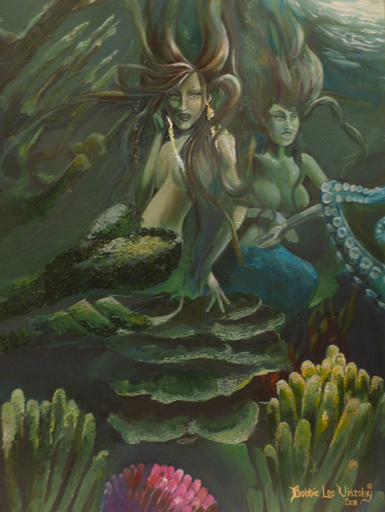 Title Green Meeting Medium Acrylic, watercolor, pencil Size 16x20