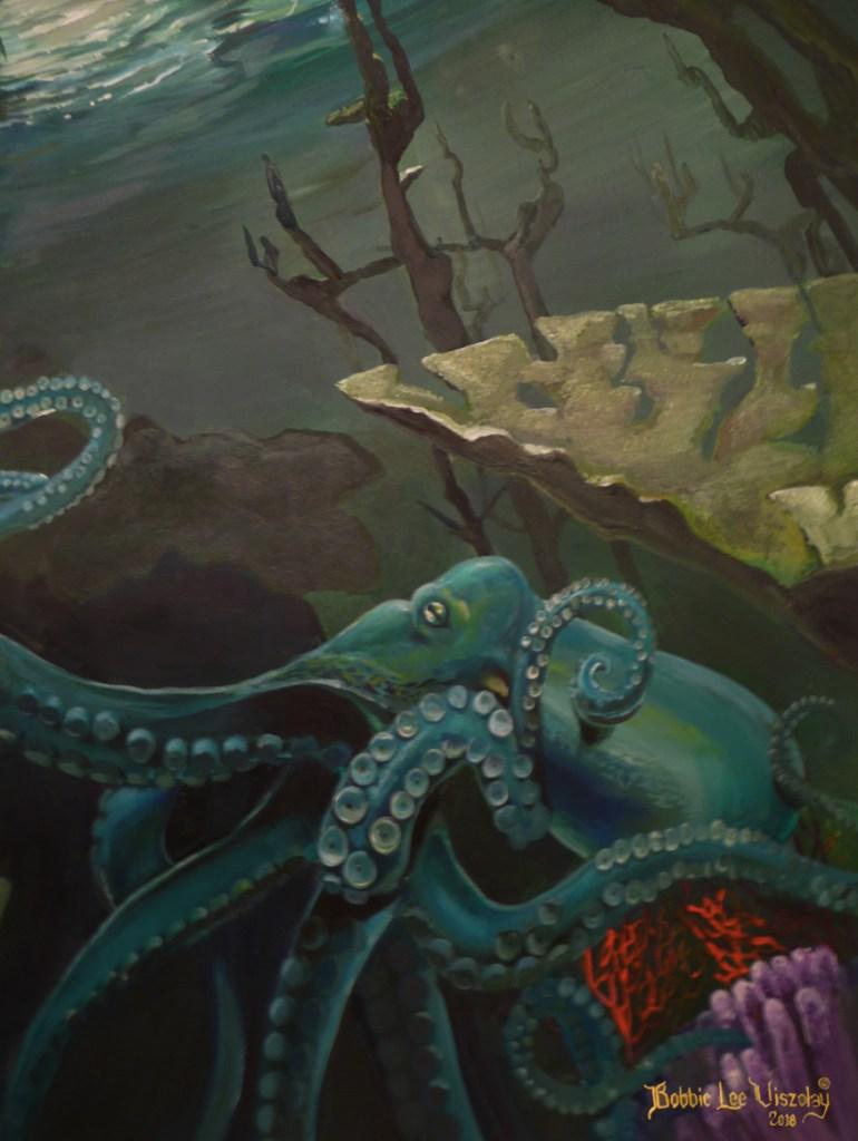 Title Green Meeting (2nd Half ) Medium Acrylic, watercolor, pencil Size 16x20