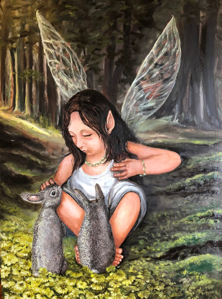 "Title Sylvie's Forest Medium Oil on panel Size 25"" x 37"""