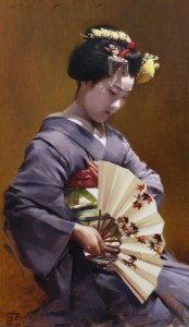 Phil Couture - Kyoto, Japan Title Tomitae Medium oil paint Size 71cm x 42cm