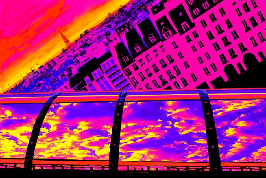 Title Pompidou View Medium Photography based art Size 30x45
