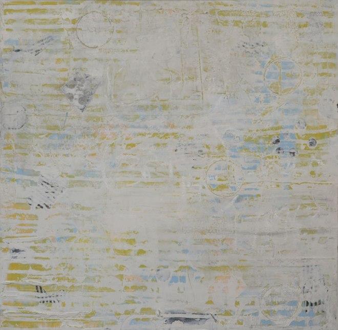 "Title Sky Map Medium acrylic, mixed media on wood panel Size 30x30"""