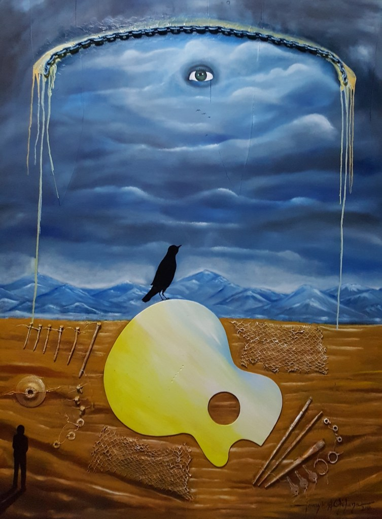 Title My Old Guitar Series#10 Medium Oil on Panel Size 4'X5'