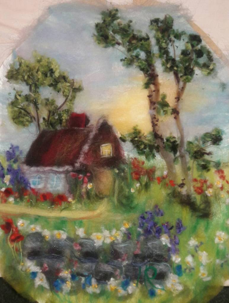Title Country Living Medium Wool Art Size 16x20